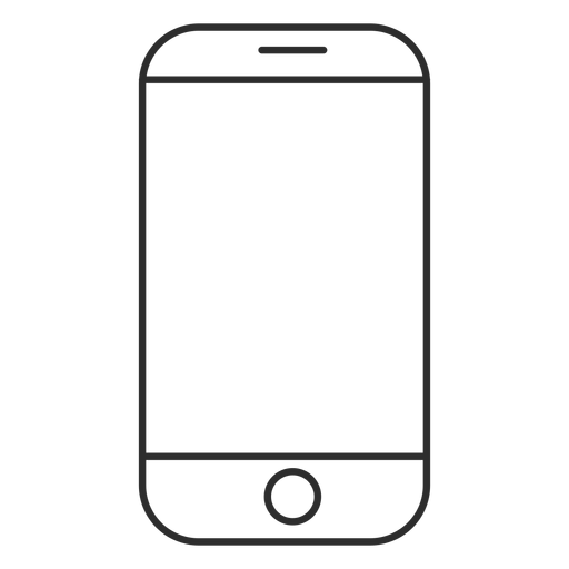 Touchscreen phone icon Transparent PNG