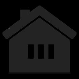 Casa tradicional ícone preto