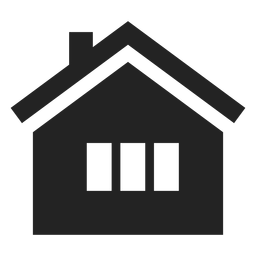 Traditional home black icon