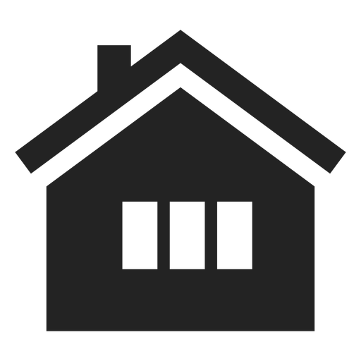 Icono tradicional casa negro Transparent PNG