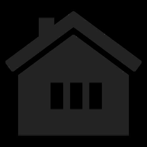Traditionelles schwarzes Zuhause-Symbol Transparent PNG