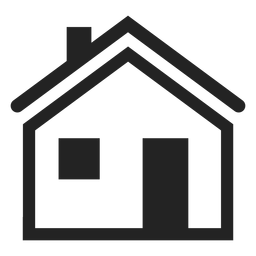 Icono de casa tradicional