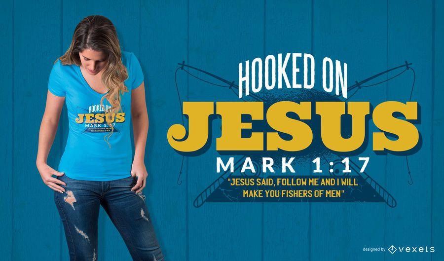 Diseño de camiseta de cita de Jesús