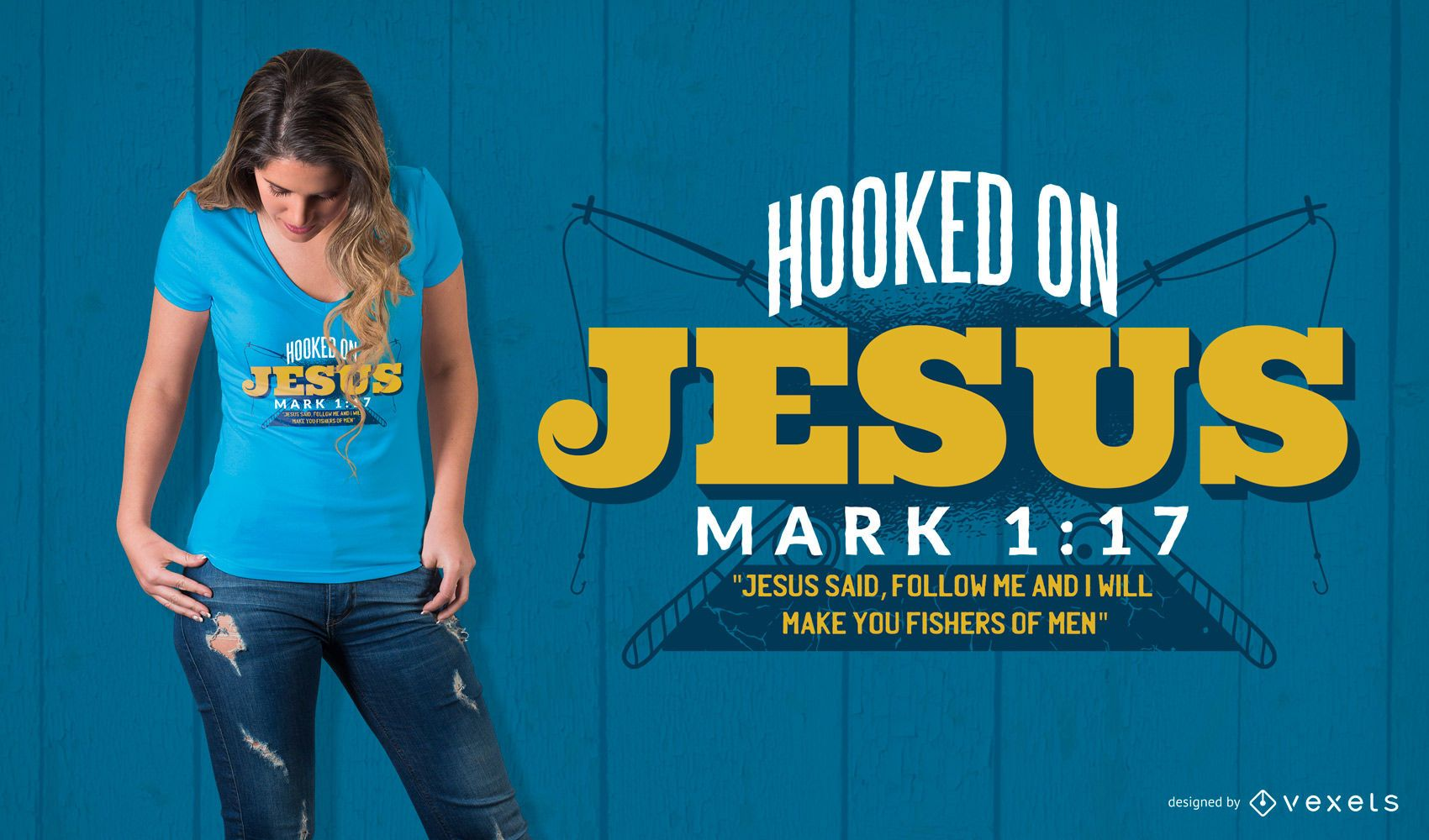 Design de camisetas Jesus Quote