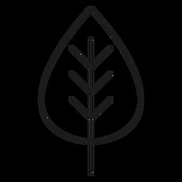 Icono de hoja trifoliada