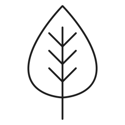Trifoliate leaf icon