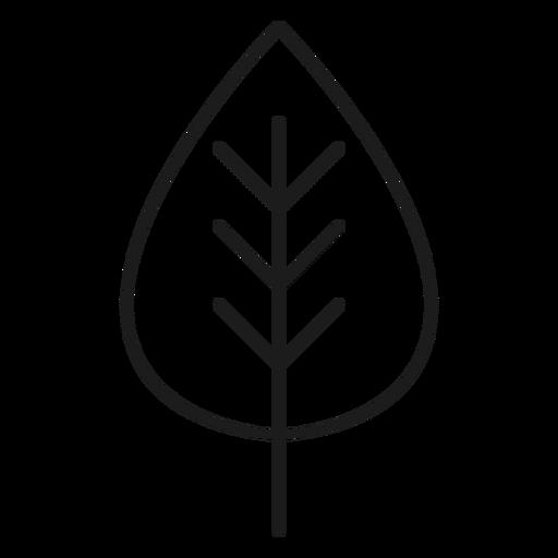 Icono de hoja trifoliada Transparent PNG