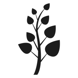 Tronco com ícone de folhas pontiagudas