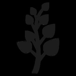 Tronco con icono de hojas puntiagudas.