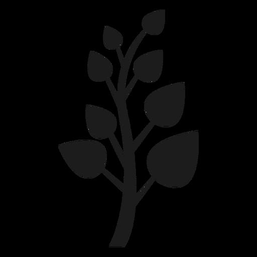 Tronco con icono de hojas puntiagudas. Transparent PNG