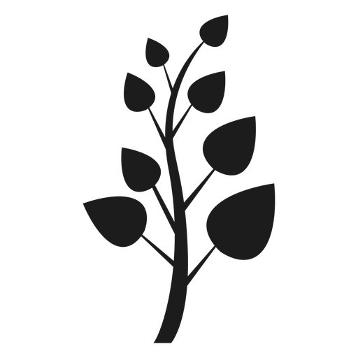 Trunk with pointed leaves icon