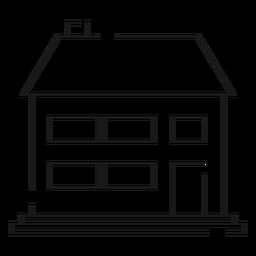 Ícone de linha de casa de dois andares