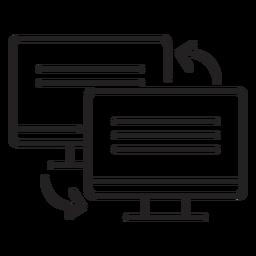 Ícone de link de dois computadores