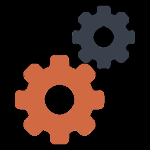 Icono de dos engranajes Transparent PNG