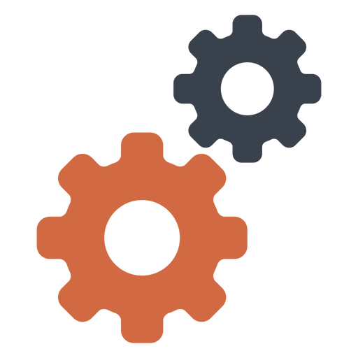 Two gear icon Transparent PNG