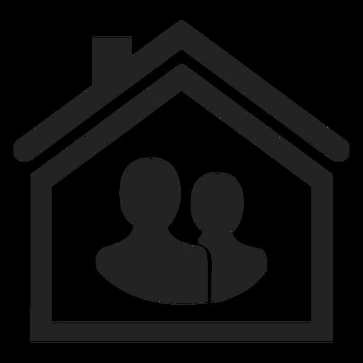 Dos personas en un icono de casa Transparent PNG