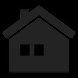 Dois, casa janela, ícone