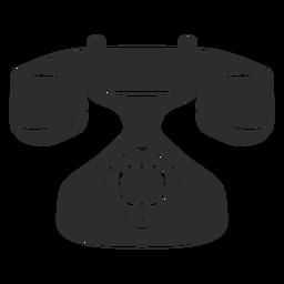 Icono de teléfono rotatorio de la vendimia