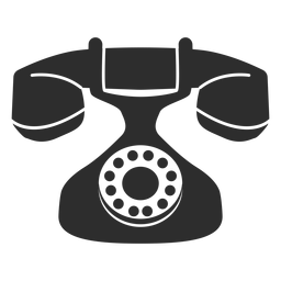 Vintage rotary phone icon