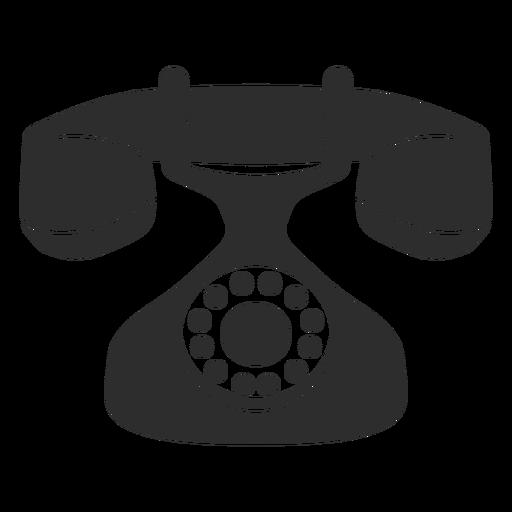 Icono de teléfono rotatorio de la vendimia Transparent PNG