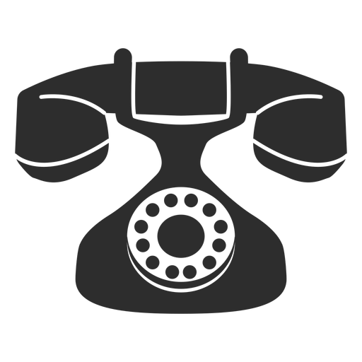 Vintage rotary phone icon Transparent PNG