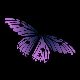 Mariposa violeta diseño