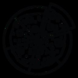 Ganze Pizza-Symbol