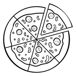 Icono de pizza entera