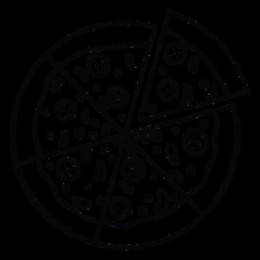 Icono de pizza entera Transparent PNG