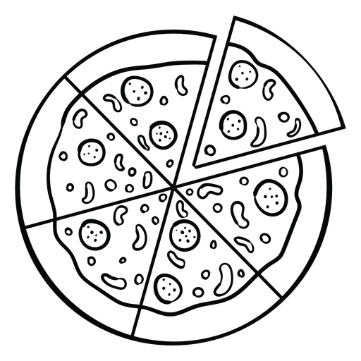 Whole pizza icon Transparent PNG