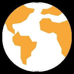Icono de mapa mundial