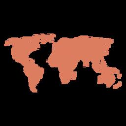 Ilustração do mapa do mundo
