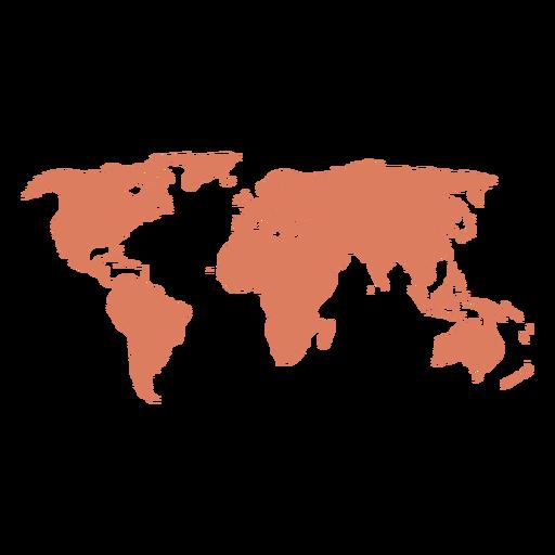 Ilustración del mapa del mundo Transparent PNG
