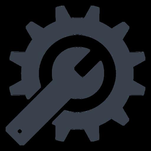 Icono de llave y engranaje Transparent PNG