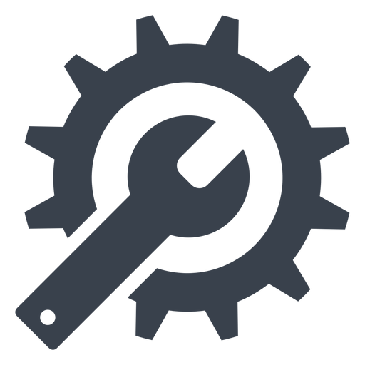 Wrench and gear icon Transparent PNG