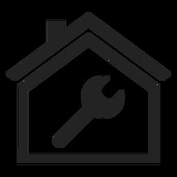 Schlüssel im Haus-Symbol