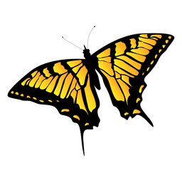 Yellow garden butterfly design