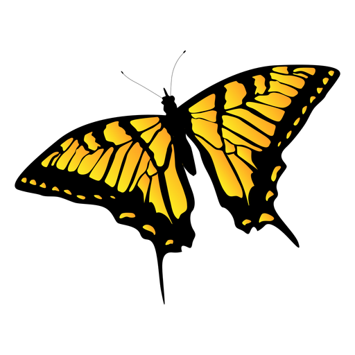 Yellow garden butterfly design Transparent PNG