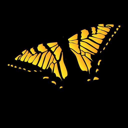 Yellow garden butterfly design