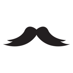 Thick long moustache icon