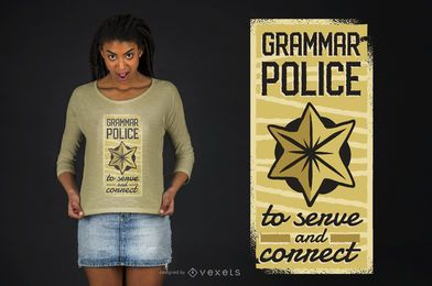 Grammatik Polizei T-Shirt Design