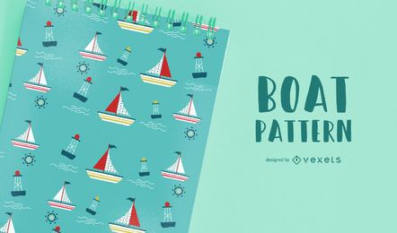Seamless Boat Pattern Design