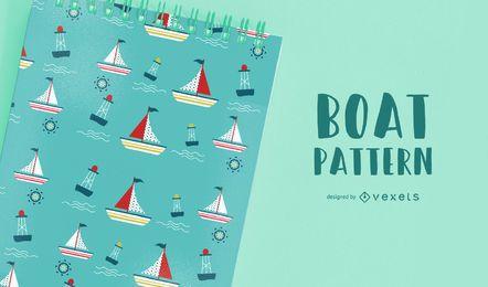 Seamless Boat Pattern Design