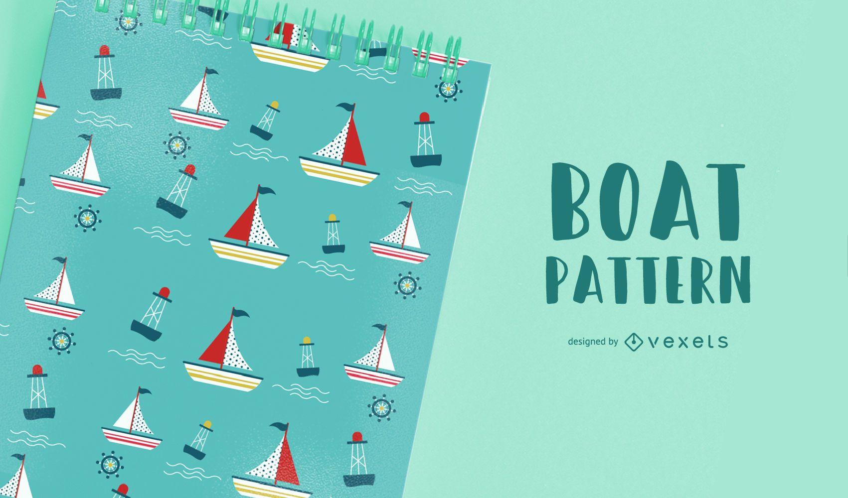 Diseño de patrón de barco sin costuras
