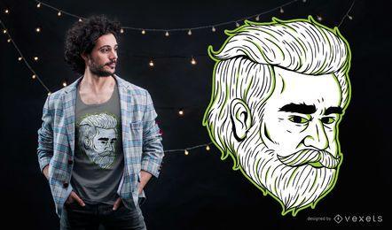 Diseño de la camiseta del hombre de Odiyan