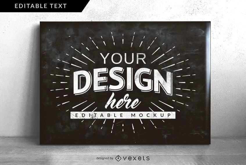 Chalkboard Design Mock-up