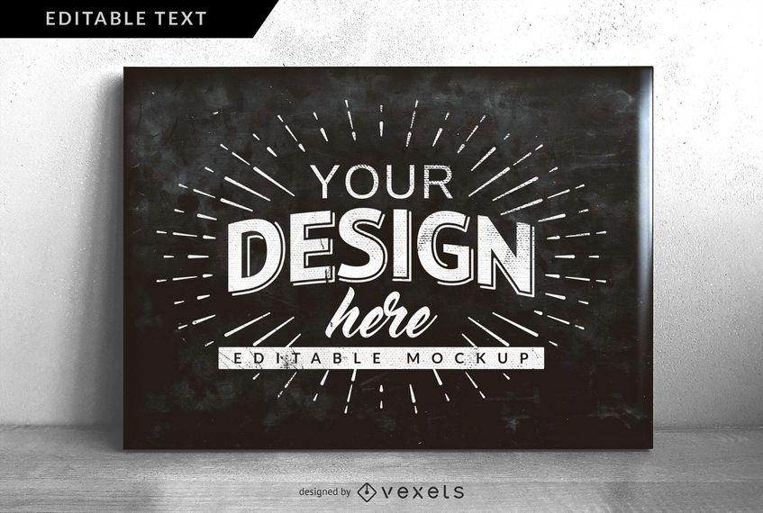 Mock-up de design de quadro-negro