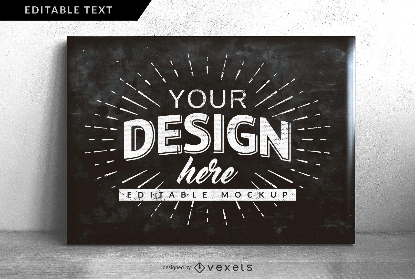 Chalkboard Design Mock-up