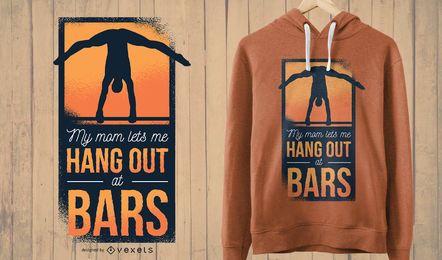 Diseño de camiseta de mamá gimnasta