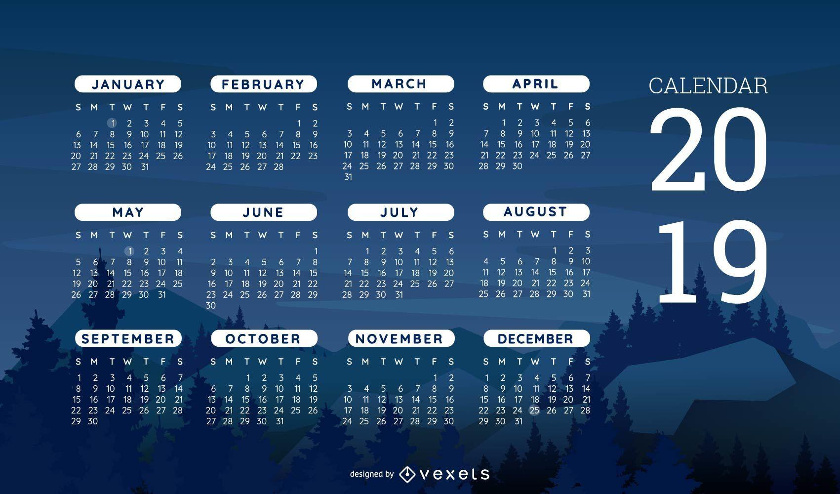 Nature Themed Calendar Design